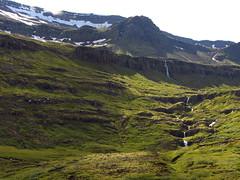 snowmelt () Tags: trip travel snow mountains verde green nature montagne canon landscape geotagged iceland waterfalls neve fiordo cascate islanda berufjrur fiordur