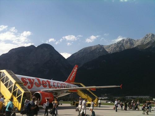 Landing at Innsbruck Airport