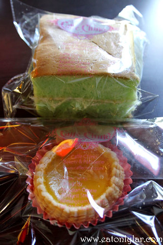 Puco Pandan Cake and Egg Tart, Caffé Chino