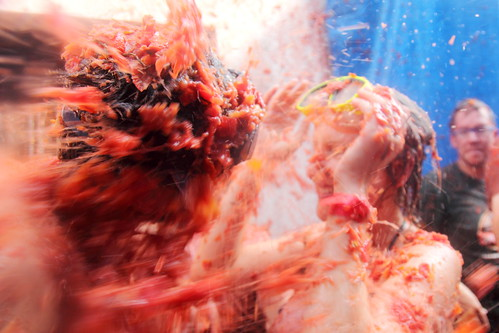 La Tomatina in Buñol. Image By Flydime on Flickr