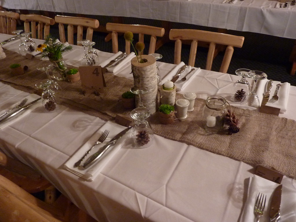 Rustic wedding decor wedding decor antique christmas for Table design for wedding
