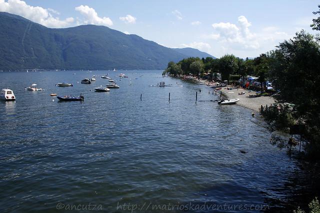 foto lido Cannobio Lago Maggiore Piemonte italia