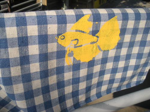 Beta Fish Screened Napkins! 6105778747_22c0401968