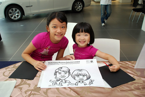 Caricature live sketching for Performance Premium Selection first year anniversary - day 2 - 1