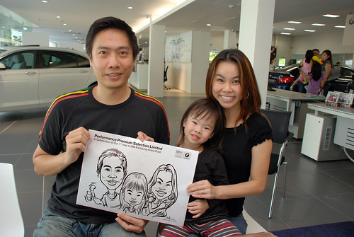 Caricature live sketching for Performance Premium Selection first year anniversary - day 2 - 15