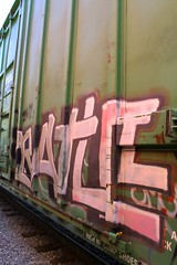 BATLE (KNOWLEDGE IS KING_) Tags: railroad art yard train bench one graffiti la paint panel tracks railway socal railcar crew boxcar burner bomb railfan freight 663 2007 fill in rollingstock batle ibt batler 2k7