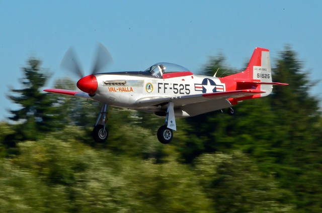 """VAW arrivals HFM P-51D """"Val-Halla"""""""