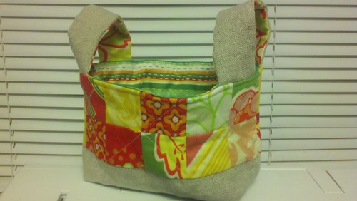 Brights fabric basket