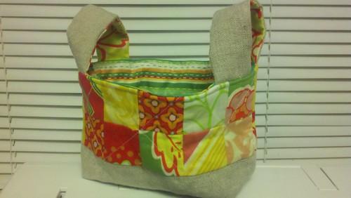 Brights fabric basket