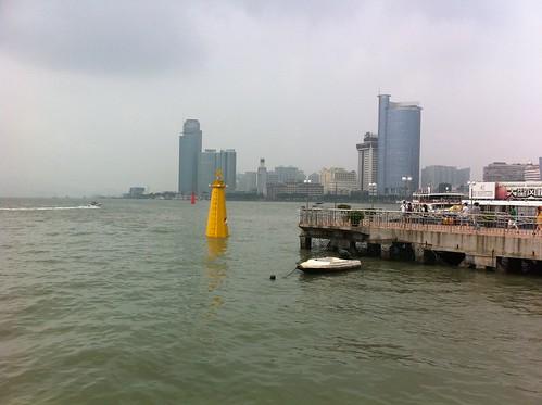 View to Xiamen city center from Gulangyu