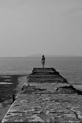 Jem. (Muta Takes A Picture) Tags: ocean sea woman white black cute water girl beautiful lady pose pier seaside model nikon pretty emotion think boardwalk pensive jem d60 armistead