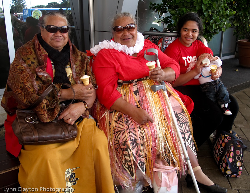 Tongan Supporters at Auckland Airport