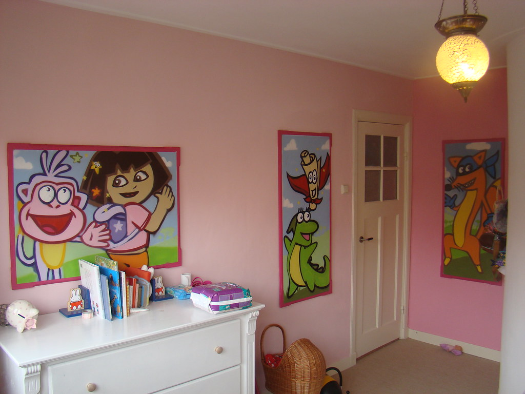 Dora Behang Kinderkamer.The World S Newest Photos Of Graffitibehang And Mural Flickr Hive Mind