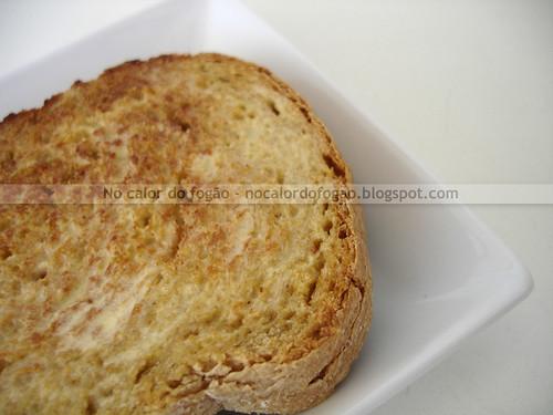 Pão de flocos de amaranto