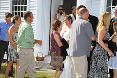 The Receiving Line. Kisses & Hugs :-)) (BruceLorenz) Tags: wedding vermont mitch rockingham historicbuilding nationalhistoriclandmark img6874 rockinghammeetinghouse suzannefarrell meetinghouseroad mitchellrudman oldnorthmeetinghouse firstchurchinrockingham oldnorthmeetinghouseroad