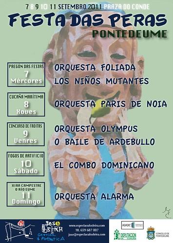 Pontedeume 2011 - Festas das Peras - cartel