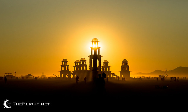 The Temple of Transition at dawn, Burning Man 2011