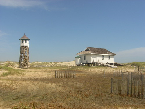Restored life saving station circa WWII - Corolla  North Carolina (3) by litlesam