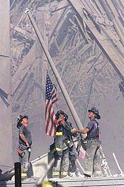 Flag at ground zero