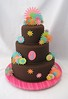 Fantasy flowers (Cake Diane Custom Cake Studio (eyedewcakes)) Tags: birthday wedding flower cake monogram chocolate fondant fantasyflower