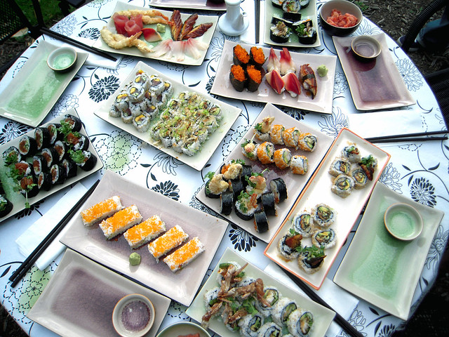 Full Sushi Spread