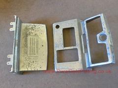 One-Armed Bandit Parts Before (PureGoldPlating) Tags: onearmedbandit electroplating chromeplating castalloy refurbishedbanditparts slotmachineparts chromeslotmachine