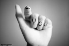 ♥ U (Merykei) Tags: bw love byn 35mm nikon hand message you amor finger fingers dedos mano tu dedo mensaje nikond40