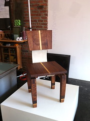Daniel Moyer's wooden chair