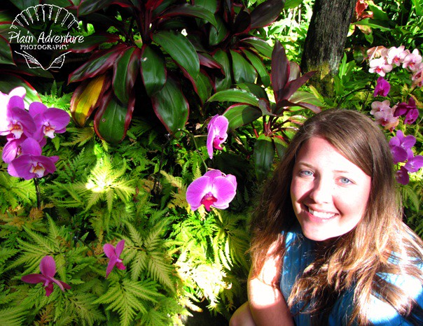 Karen with Orchid