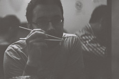 Chopsticks ! (davidouss) Tags: portrait food paris film analog vintage japanese restaurant photo chopsticks