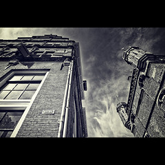 On The Brink (Allard Schager) Tags: street old city summer urban holland netherlands monochrome dutch architecture corner nikon downtown pov bricks grain nederland august gritty 11 lookingup zomer historical waag plein eclectic borders stad deventer harsh augustus bold architectuur overijssel contrasty historie brink straat hoek stenen 2011 wetrocks dramaticlight hanzestad weighinghouse waaggebouw nikcolorefexpro d700 nikond700 nikkor2470mmf28 nikonfx allardone niksilverefexpro allard1 duohardstrak kijkomhoogsammy fullframepower brinksquare deventercitymuseum allardschagercom