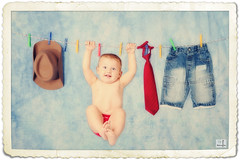 (MissSmile) Tags: boy baby cute kid funny child artistic framed memories creative adorable laundry frame 1year misssmile