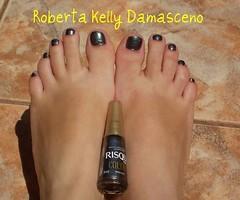 Besouro - Risque Color Effect (Roberta Kelly Damasceno) Tags: nails cinza risque unha besouro esmalte coloreffect cintilante furtacor