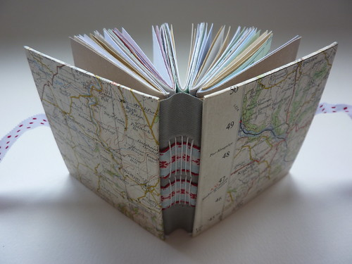 Chunky vintage map journals