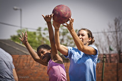Madelyn Cooper plays a game of netball