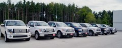 Seven Pick-up Trucks (Light Collector) Tags: ontario ford seven sidebyside pickuptrucks odt stayner canafa hannamotors