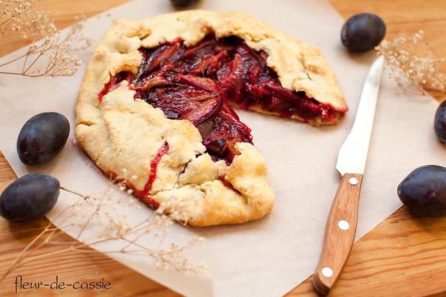 деревенский сливовый пирог 2