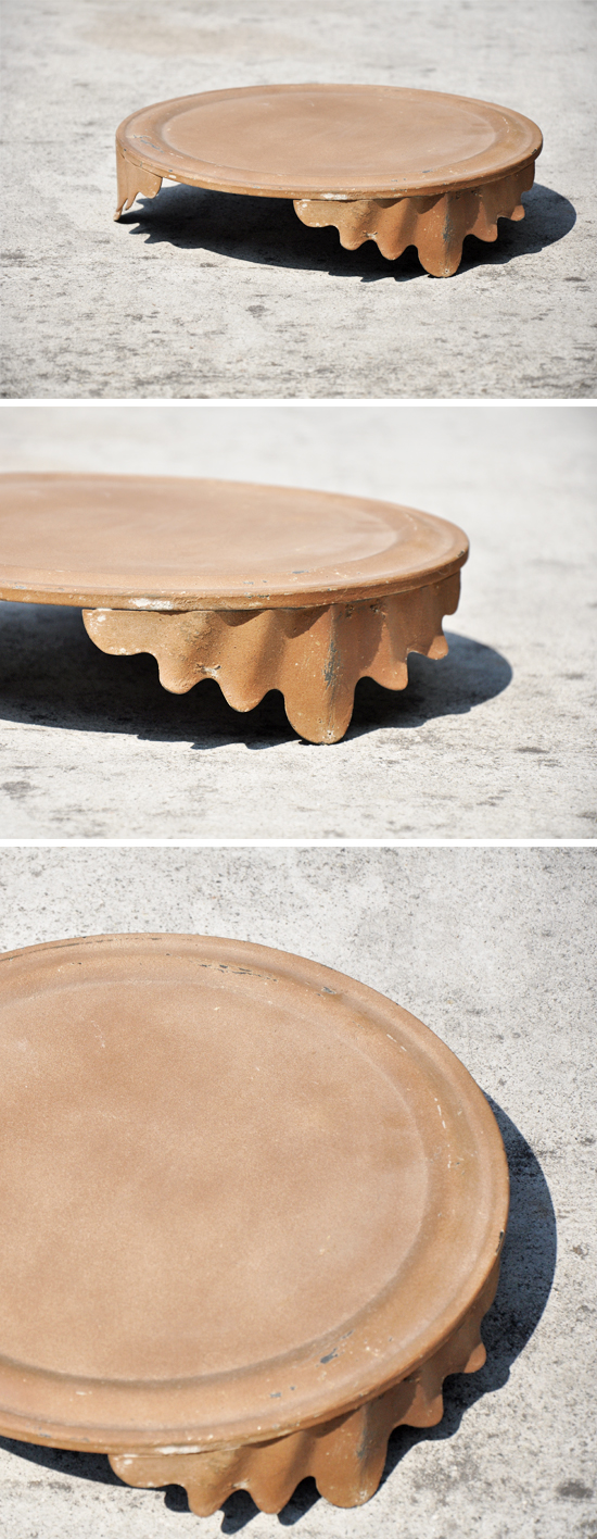 Rustic Metal Cake Stand by Over The Moon Vintage Rentals