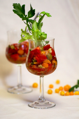 Cajun Bloody Mary Tomato Salad