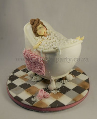 Teacher in the bath (Dot Klerck....) Tags: cake southafrica bath bubbles towel dot teacher wellington capetowm sculptedcakes eatcakeparty tilesrelax