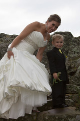 The Bride and the Ringbearer (Craig Dyni) Tags: wedding colin ringbearer finn dyni esreypark