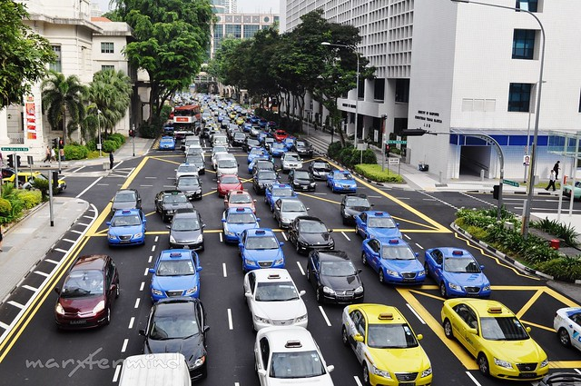 Traffic in Singapore