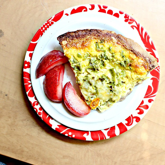 Corn Quiche in a Teff Crust | Joanne Eats Well With Others