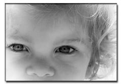 Sand on her nose (stmoritz1960) Tags: bw baby beach girl pretty niceshot olivia jersey stmoritz1960