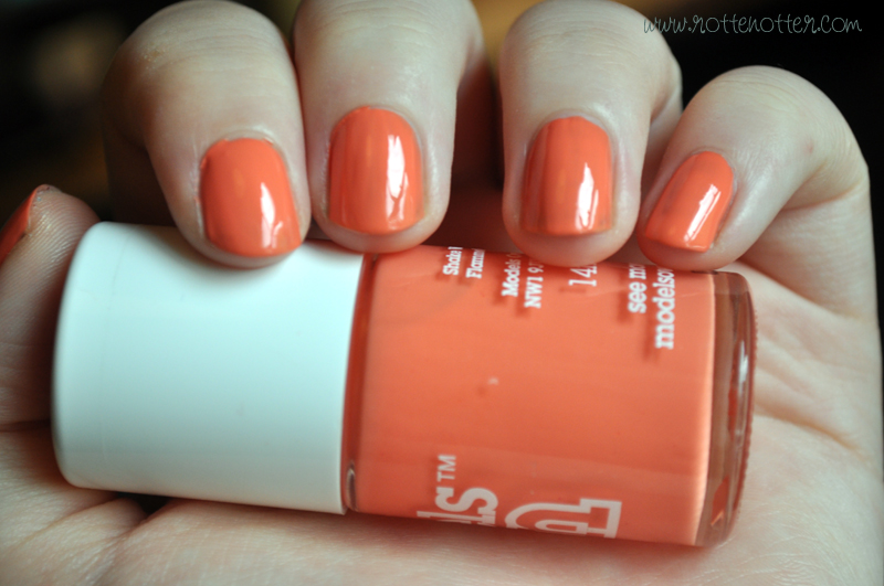 models own fuzzy peach nail polish notd
