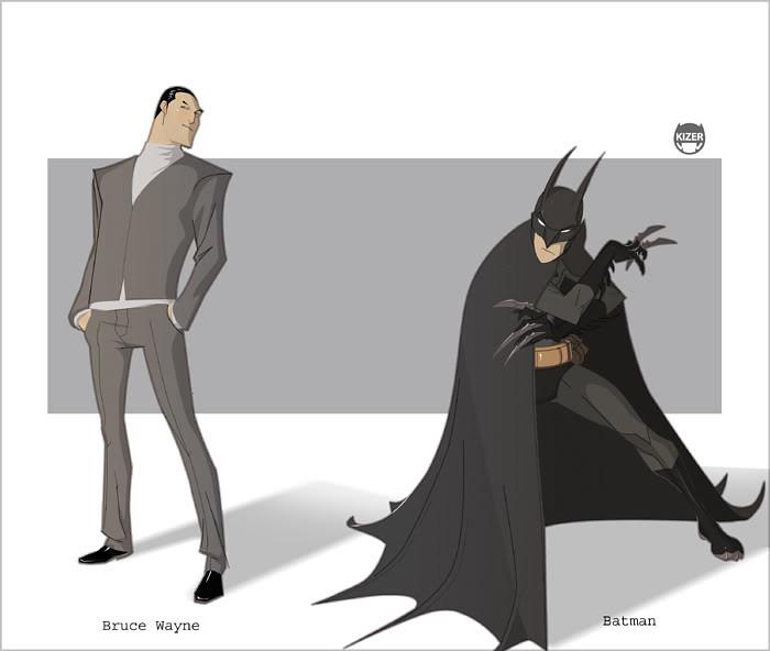 desenho nerd batman