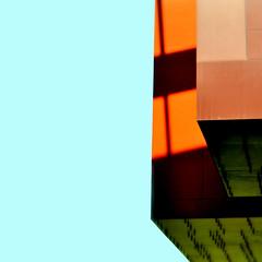 blue sky dreaming (SteffenTuck) Tags: morning light orange paris green outside shadows exterior graphic edge soffit metalcladding museeduquaibranly steffentuck europe2011