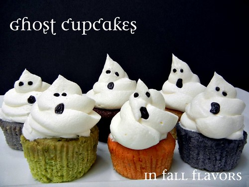 Sugar Swings! Serve Some: ghost cupcakes in fall flavors...!