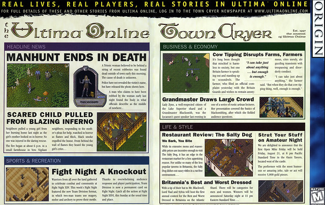 Ultima Online: The Second Age - Inside of Box Flap