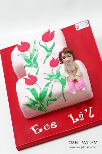 Ece Lâ'l in Ebruli 1 Yaş Pastası